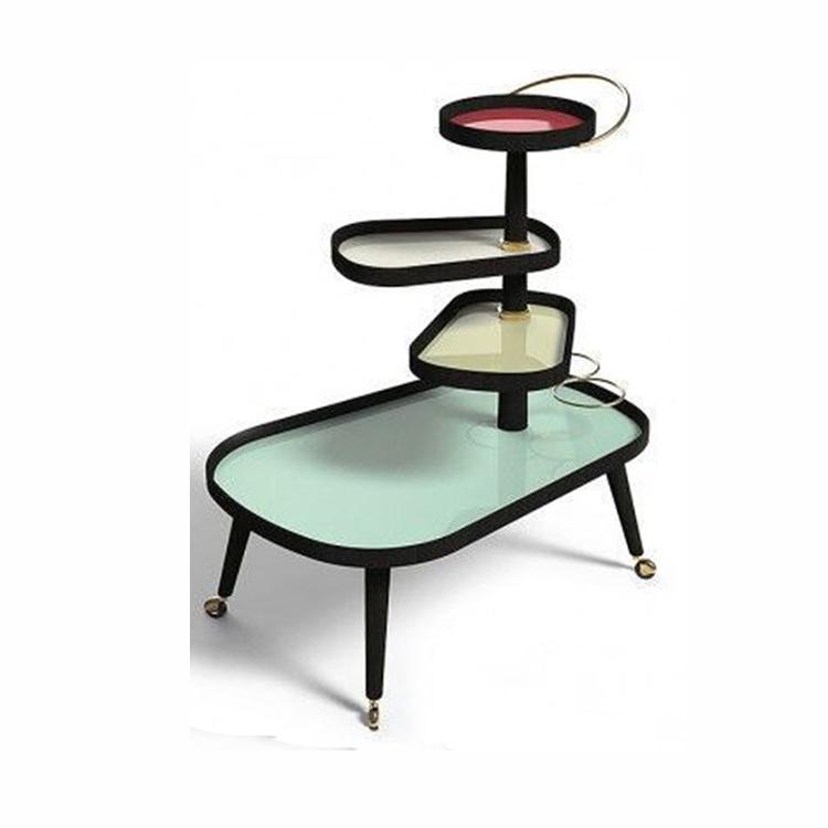 置物架意大利设计标签寿司四色彩色多颜色咖啡桌 酒店餐厅会所