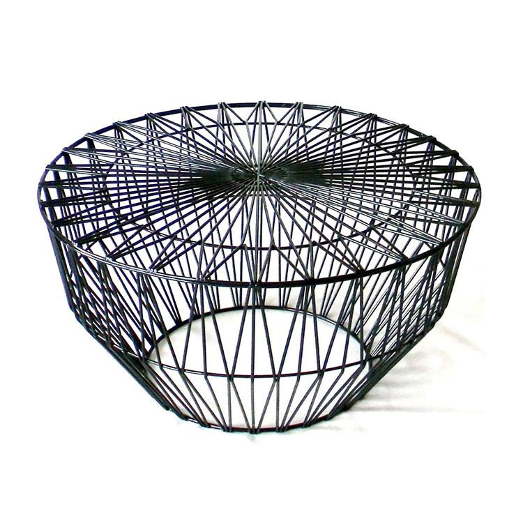 现代创意简约美式风格铁艺沙发柜移动小茶几边桌黄色角几边几圆几