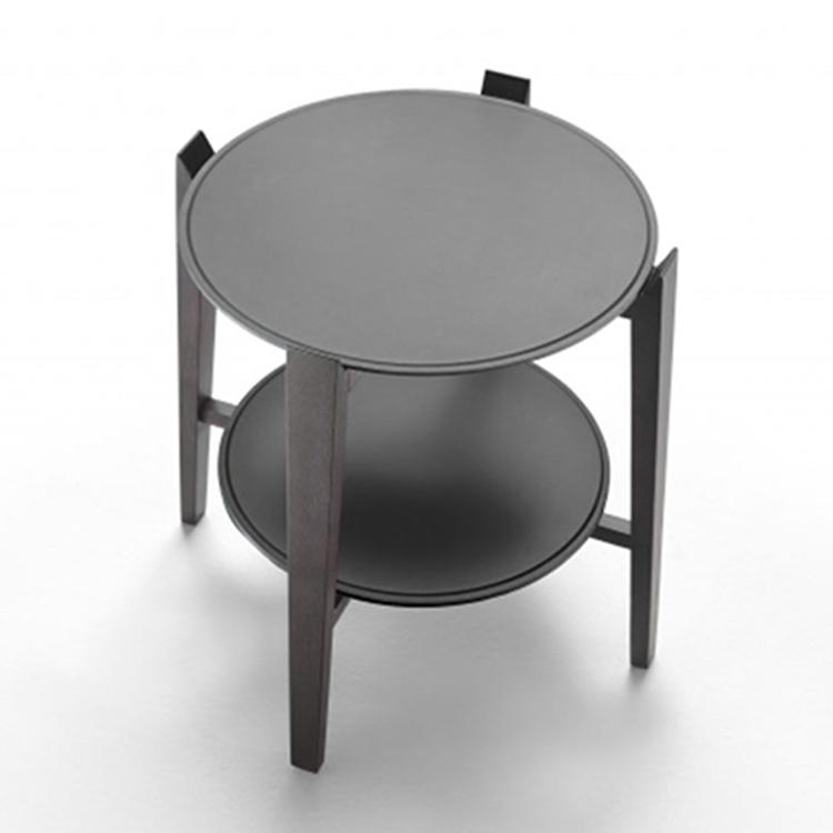 北欧简约圆形边角几 床头柜 现代简约小户型家具 原木色环保家具