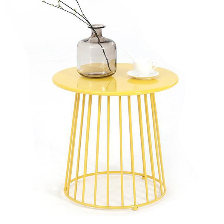 北欧客厅沙发边几床头柜角几现代铁艺圆形休闲小户型客厅小茶几