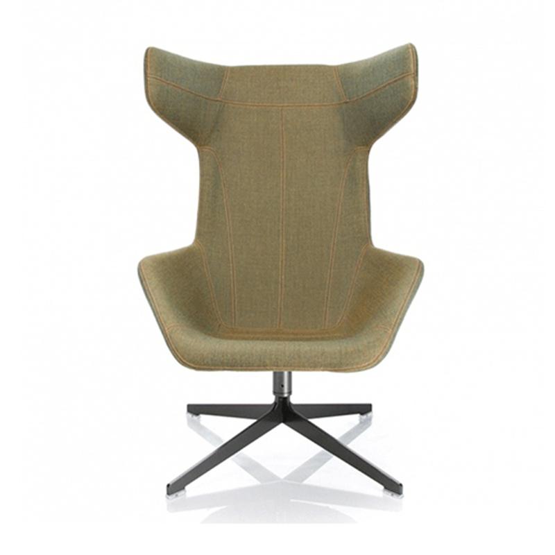 欧式沙发椅玻璃钢休闲椅 办公室会客家用懒人靠背躺椅玻璃钢休闲
