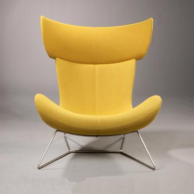 北欧蜗牛椅真皮单人沙发美式布艺老虎椅懒人卧室小户型休闲阳台椅