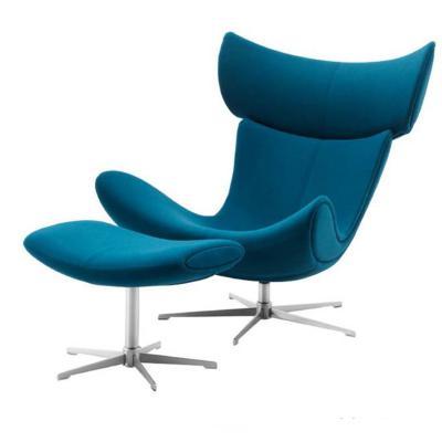 现代简约布质星脚 时尚花瓣躺椅 高端总裁椅Henrik Pedersen 网红店母婴美容会所酒店促销家具