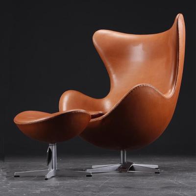 鸡蛋椅蛋形单人小沙发户外皮质蛋壳椅玻璃钢设计师休闲椅球形蛋椅