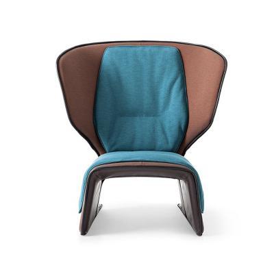 设计师玻璃钢创意休闲椅风格高背椅样板房售楼处家具单人个性躺椅