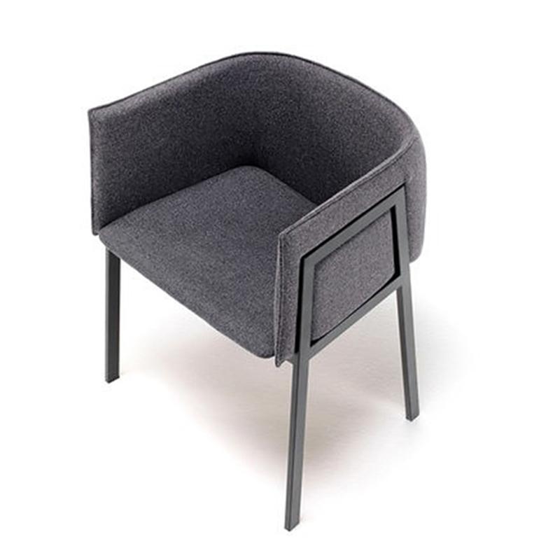 北欧不锈钢餐椅后现代简约餐厅靠背扶手轻奢餐椅欧式休闲梳妆椅子