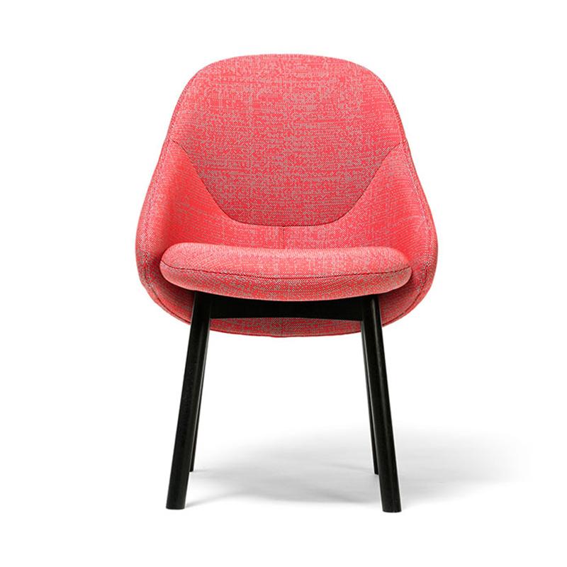 北欧单人沙发椅简约现代家用客厅实木布艺时尚休闲椅子设计师家具