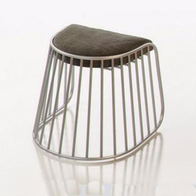 304不锈钢电镀 黑 白 金 银色原色款布艺矮吧凳休闲椅规格面料颜色可定制
