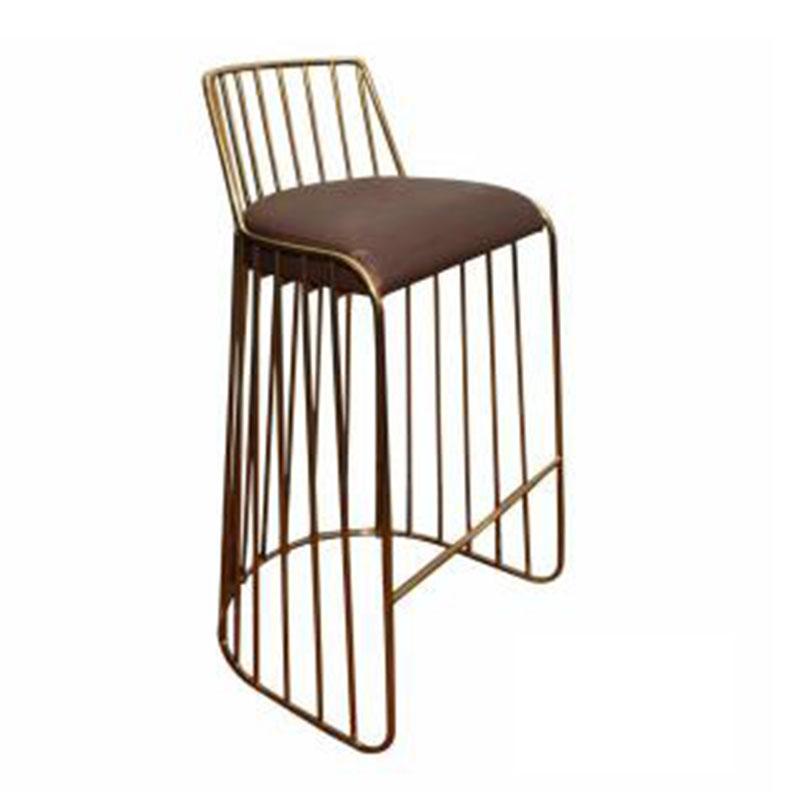 现代简约 轻奢 304不锈钢 吧台椅 酒吧椅 时尚高脚吧椅 高级酒店前台接待