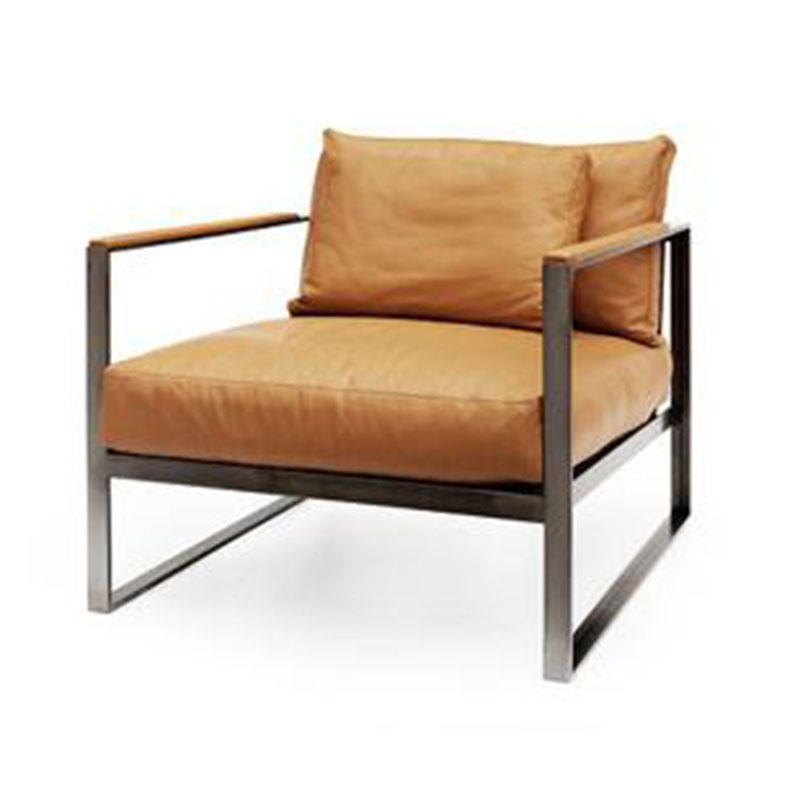 摩纳哥沙发椅商务沙发欧式设计师沙发椅单人极简工业风沙发双人办公沙发会客区