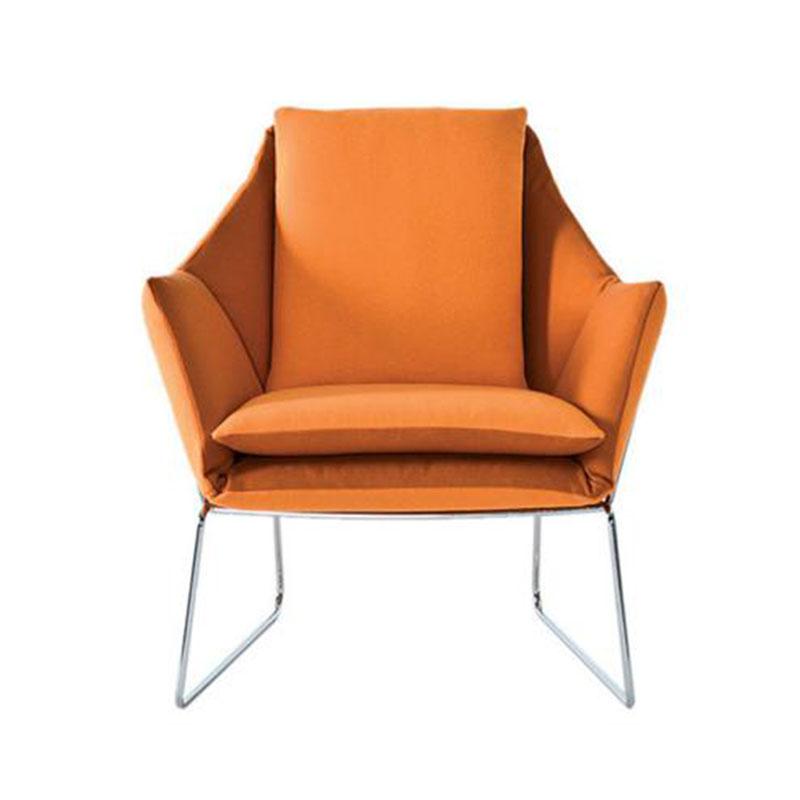 轻奢单人小沙发北欧简约现代靠背椅客厅布艺老虎椅休闲洽谈椅卧室
