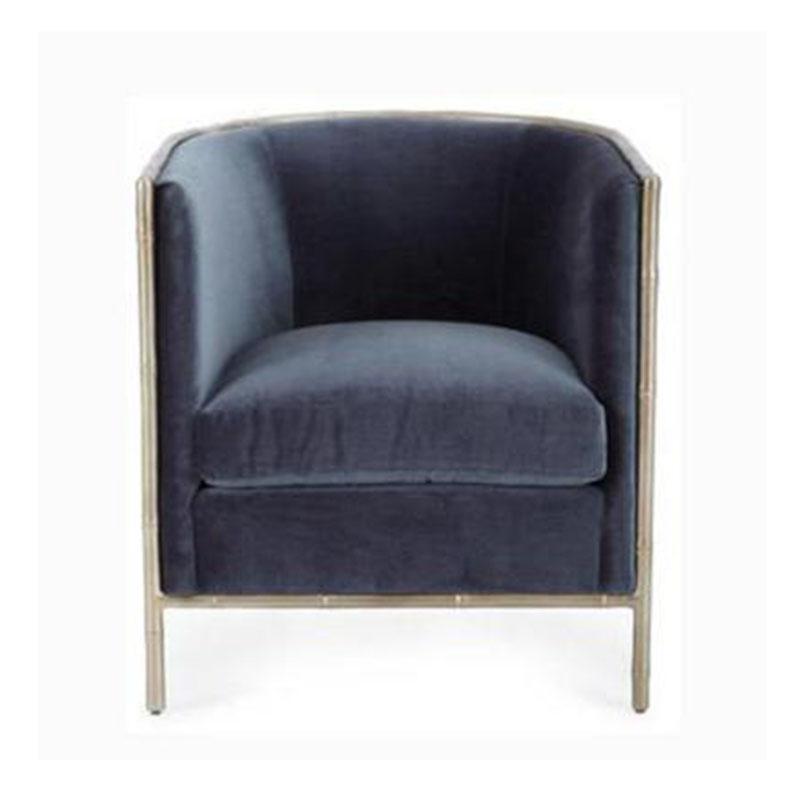 简约现代布艺时尚单人沙发北欧新古典休闲沙发咖啡厅样板房定制