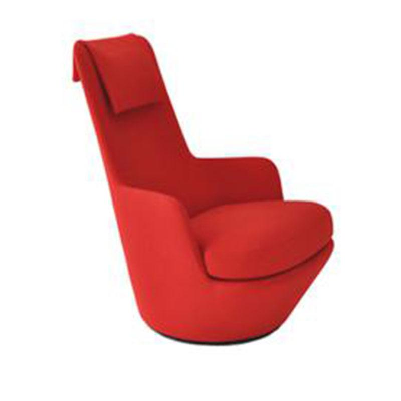 北欧现代艺术风格休闲椅软包单人沙发座椅酒店办公室接待洽谈椅