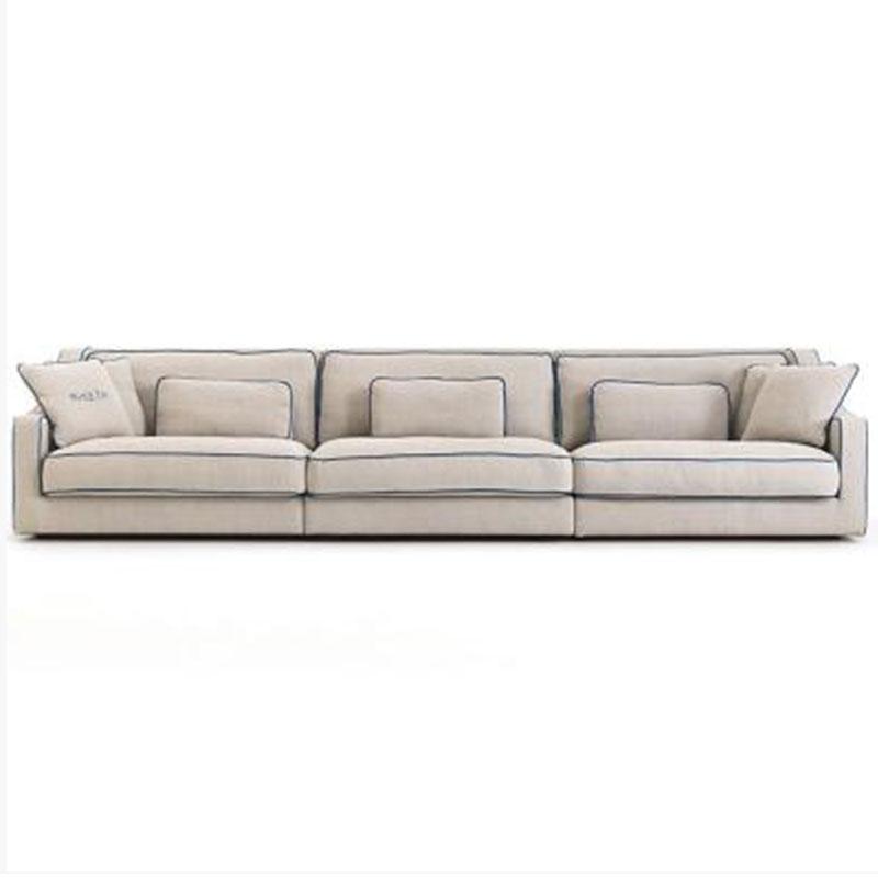 北欧ins风客厅布艺沙发组合现代简约科技布转角沙发整装