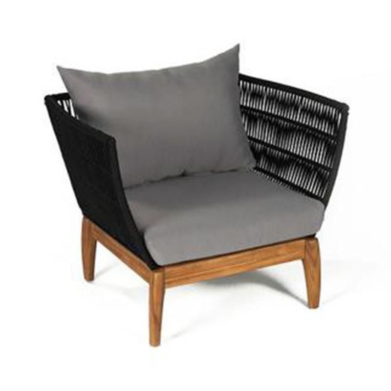 户外家具北欧实木沙发酒店休闲藤沙发单人椅庭院阳台创意沙发