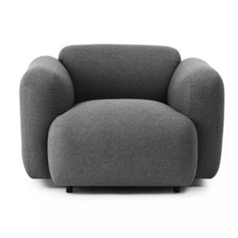北欧轻奢风格摄影沙发 单双三人休闲样板房会所面包组合沙发