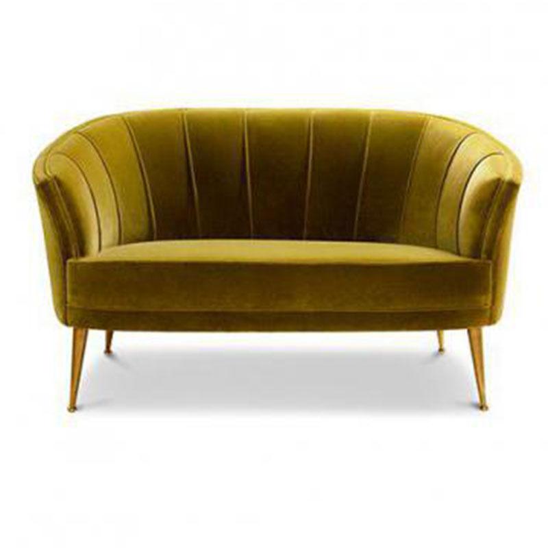 布艺沙发卡座简约售楼部处洽谈桌椅组合欧式美容院实木沙发