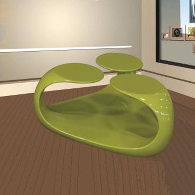 玻璃钢创意花瓣桌