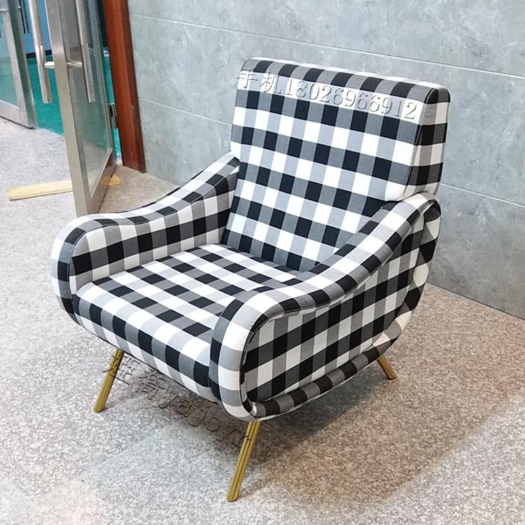 卡西纳 cassina 不锈钢电镀单人沙发椅 北欧设计师 美容护肤养生夫人沙发椅