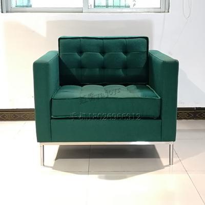 美式风格后现代ins绒布三人沙发 北欧时尚拉扣简约轻奢小户型沙发