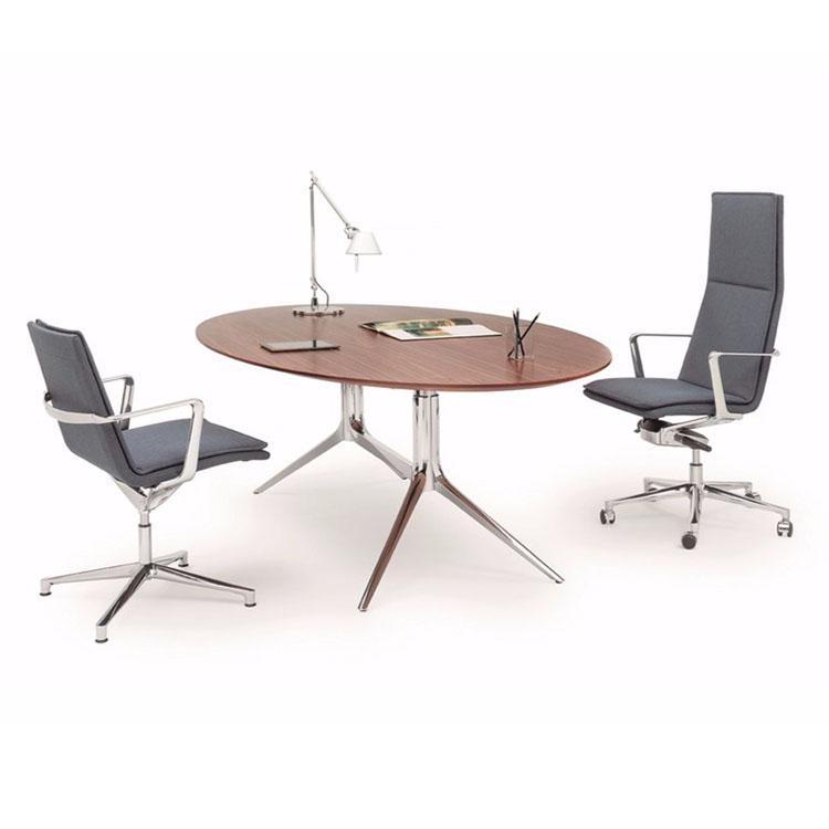 椭圆实木办公桌现代简约个性设计