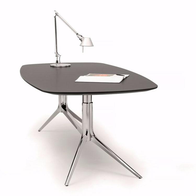 现代个性长方形会议桌休闲桌 304不锈钢异形脚架 简约脚架 亮光抛光 拉丝 201电镀不锈钢