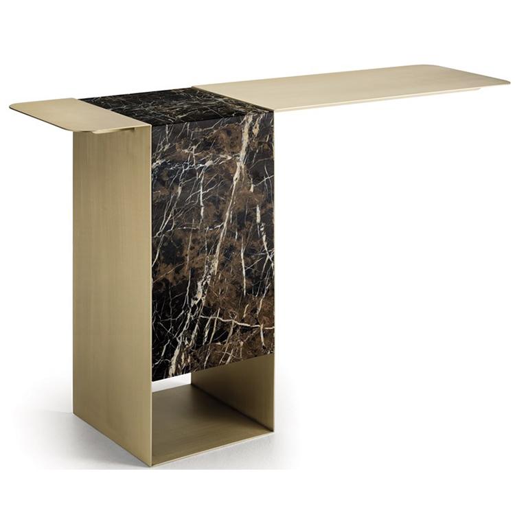不锈钢大理石玄关桌子