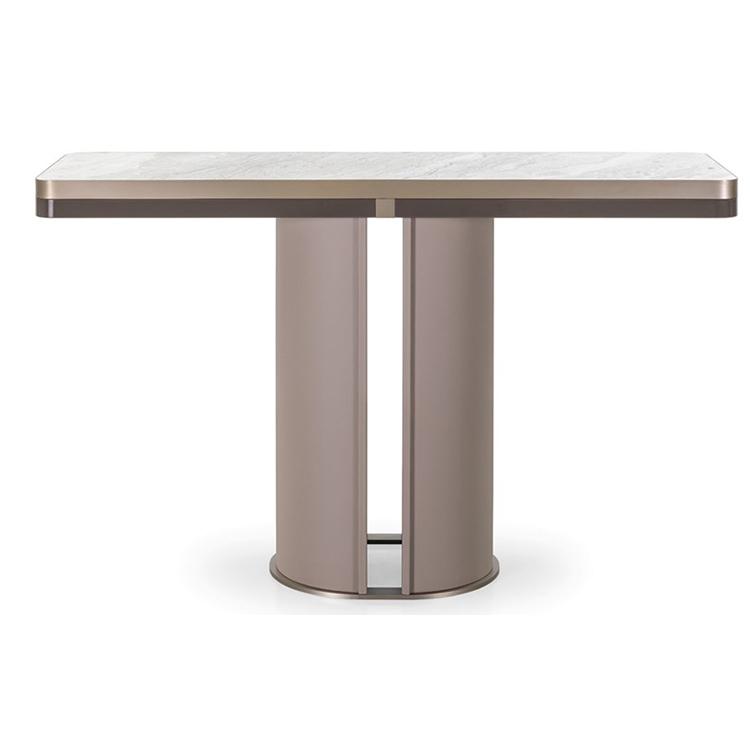 不锈钢圆柱架玄关桌