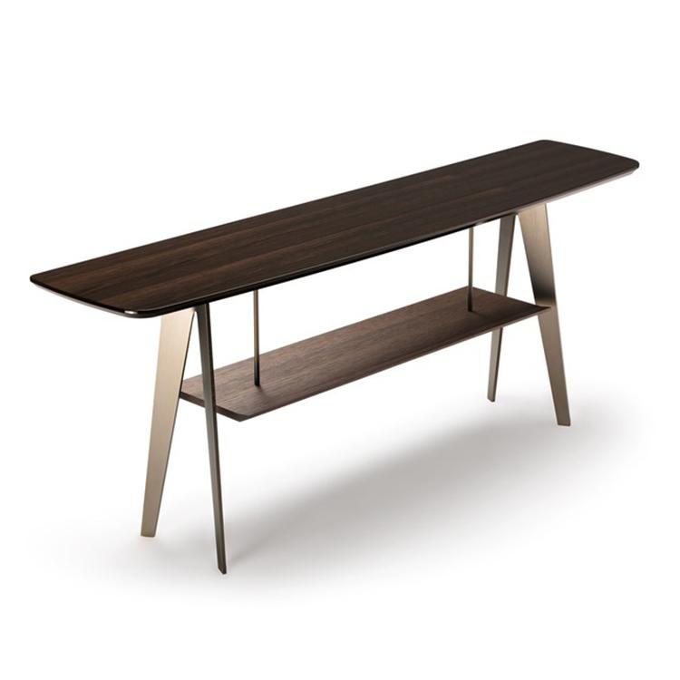 不锈钢创意茶几边几 现代简约实木工艺  意大利设计客厅  定制家具