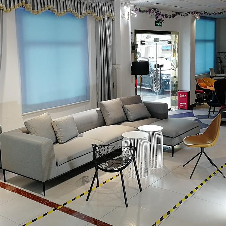 现代简约 布艺多人贵妃沙发3.4米L型转角沙发 客厅 酒店 别墅