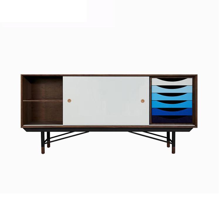 实木铁架置物电视柜 现代简约 时尚