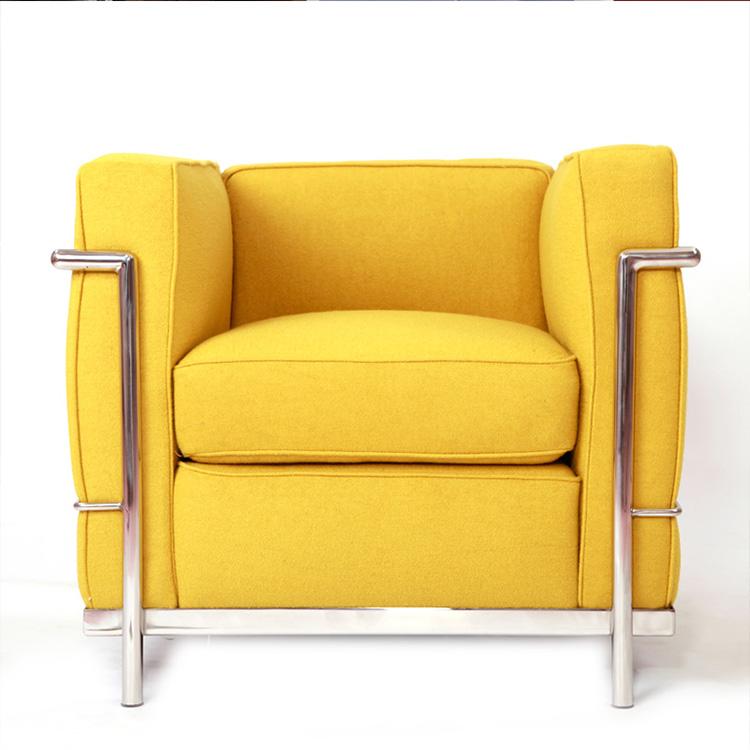经典不锈钢 实木内架沙发 单人 双人 多人位美式休闲沙发 现代简约