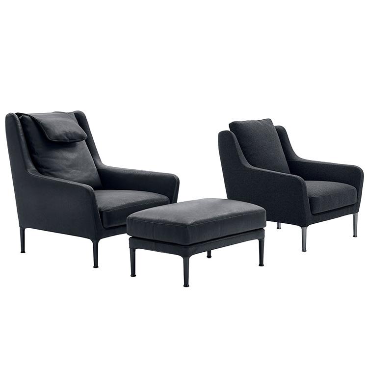 现代简约单人沙发小户型客厅 设计师椅客厅阳台椅简约布艺定制