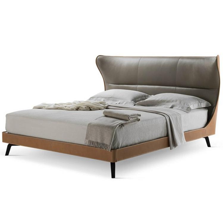 床架鞍形额外皮革软垫 床板实心实木 床边聚氨酯泡沫塑料模塑