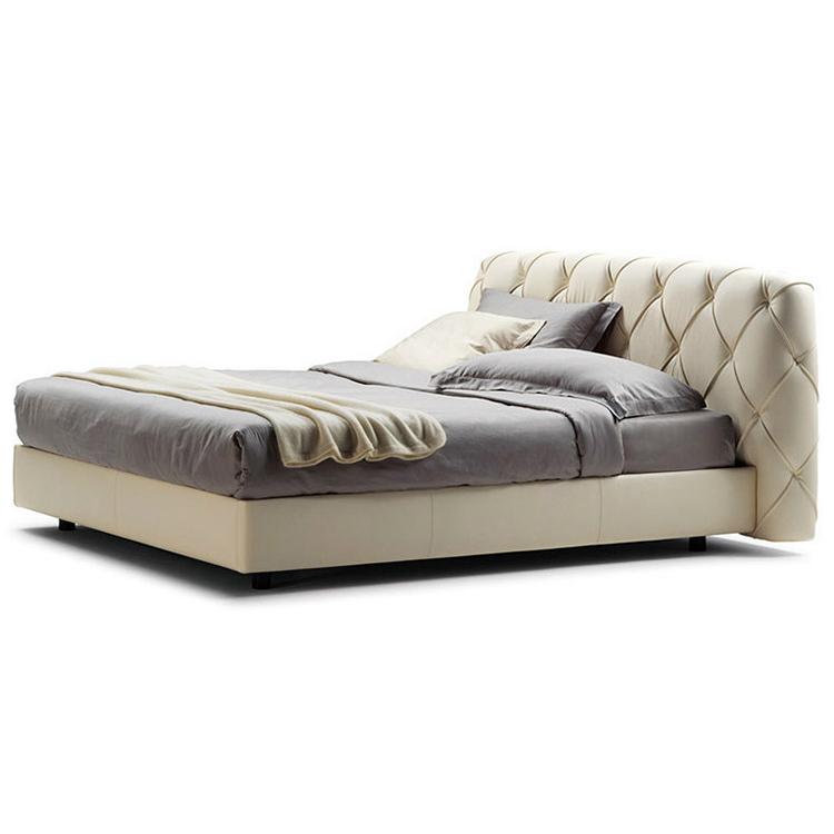 家具定制  新款现代真皮床 高档时尚皮艺双人床 1.8*2米婚床