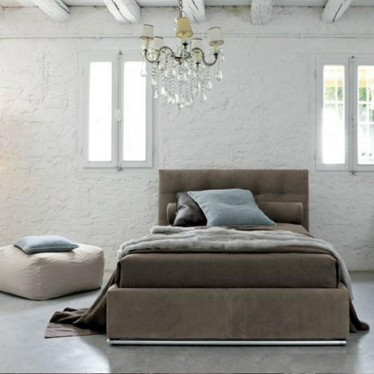 高端家具定制 北欧双人床 意大利卧室床 现代简约双人床