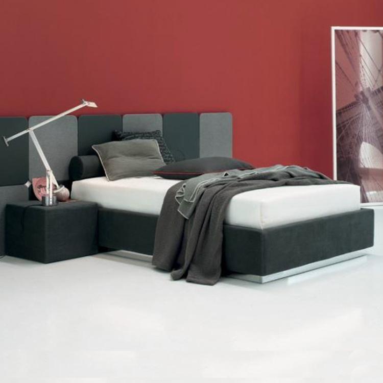 特维斯现代设计极简布艺双人床