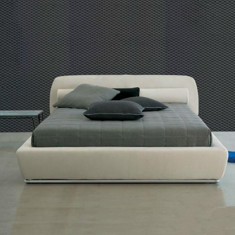 任埃 布艺床皮床 北欧现代简约皮布结合主卧双人大房床