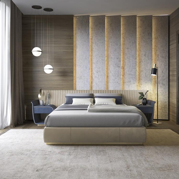 XL魅力系列高端定制款双人床米兰展新款布艺床主卧床卧室床