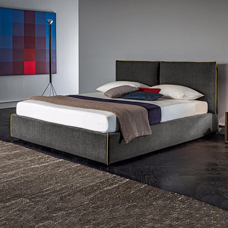 床上的故事 路易斯北欧简约卧室家具软体床 双人棉婚用床布艺软床