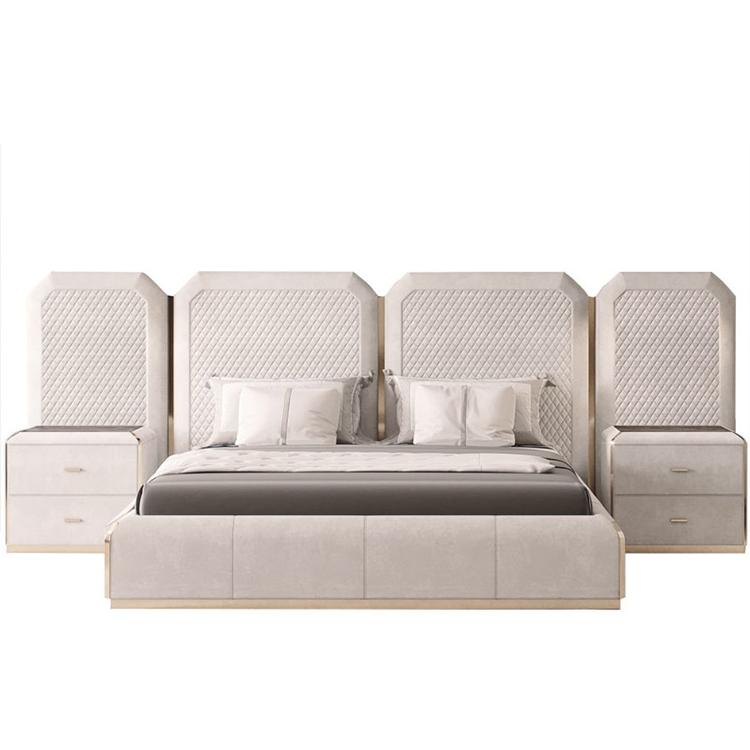 猎户座XL白色真皮大床屏床2019年新款双人床