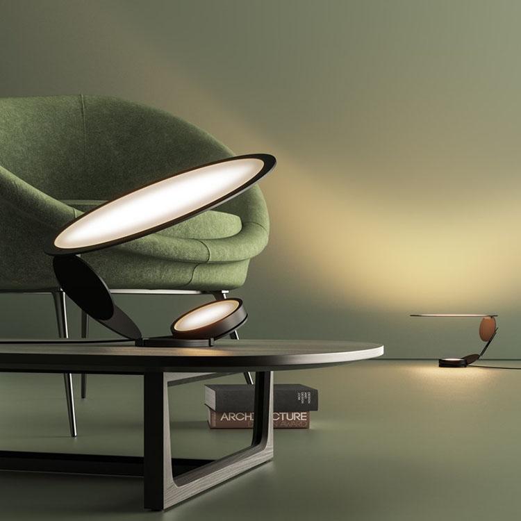 伤口系列切割灯具 圆形结构灯具 支架型支撑 现代简约创意设计