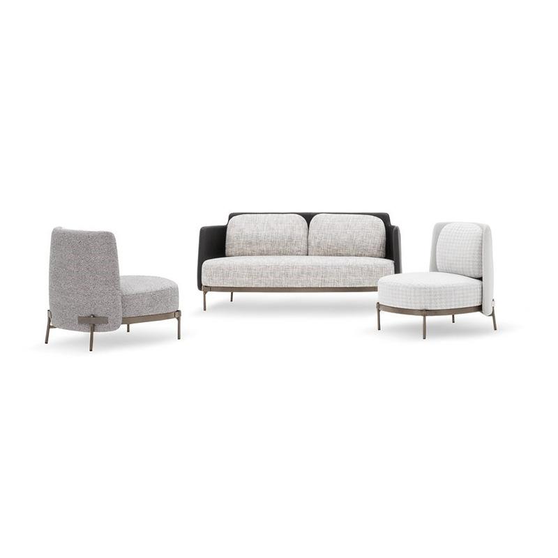 绷带椅个性休闲懒人椅现代简约设计师创意 高档会所沙发 高档沙发椅 minotti Tape Bergere Armchair 高背低背沙发椅