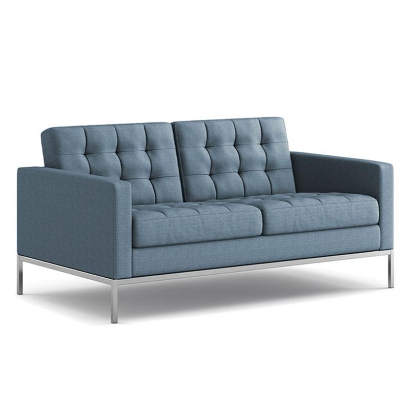 弗洛伦斯·诺尔双人沙发椅不锈钢电镀防锈框架  现代简约舒适型 办公家具 Office furniture