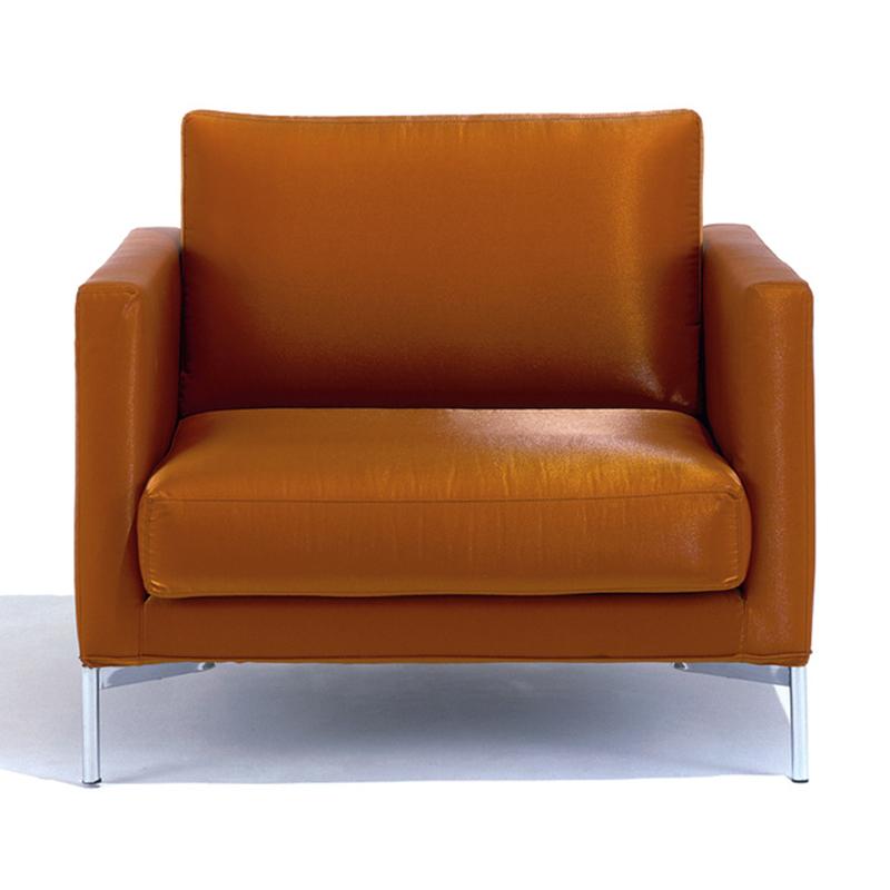 现代标准沙发躺椅 实木框架,室内装潢,抛光钢腿 布艺 皮质单人沙发