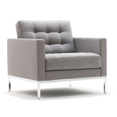 弗洛伦斯·克诺尔休闲躺椅牛皮休闲沙发办公室小户型家用商务洽谈客区休息区客厅椅