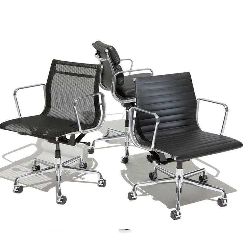 埃姆斯铝组椅铝合金老板椅设计师转椅靠背软包电脑椅休闲椅行政会议椅