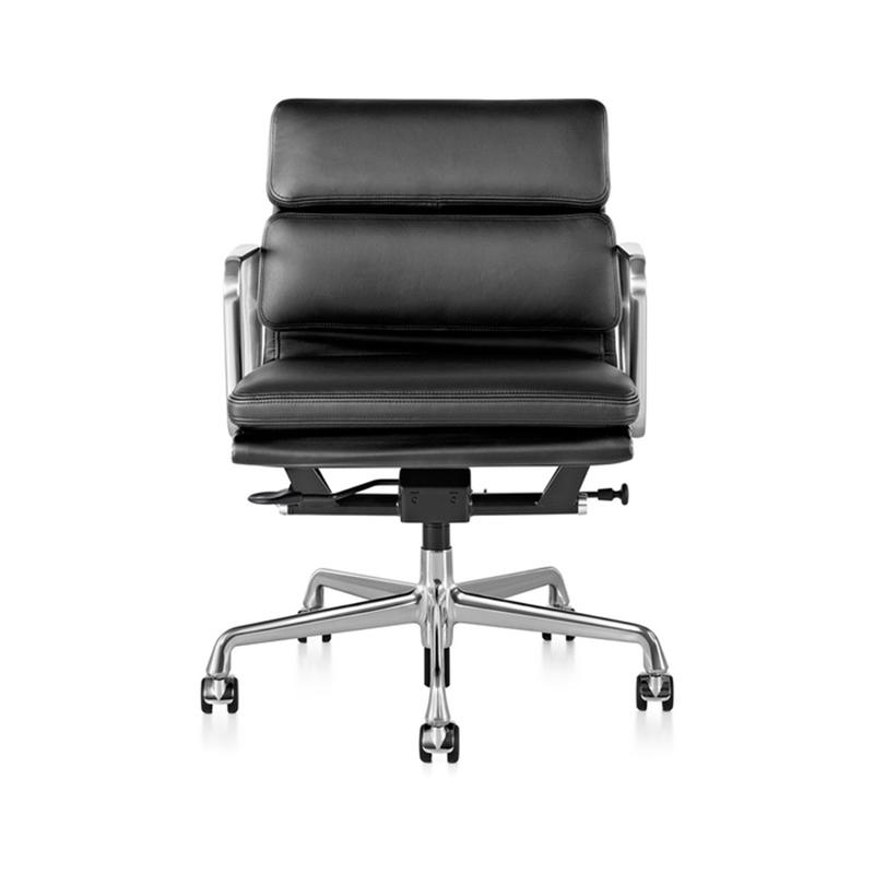埃姆斯铝组椅 铝合金老板椅设计师转椅 低背软包电脑椅休闲椅行政会议椅