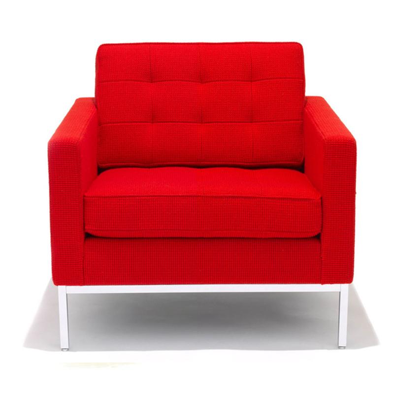 弗洛伦斯·诺尔的沙发躺椅北欧诺尔单双人位沙发真皮艺布艺创意组合沙发小户型办公室