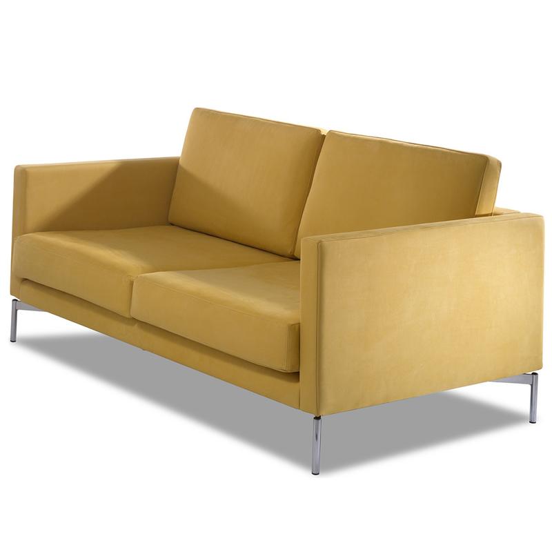长诗的长椅轻奢布艺沙发简约后现代搭配 设计师样板间酒店别墅客厅港式风格